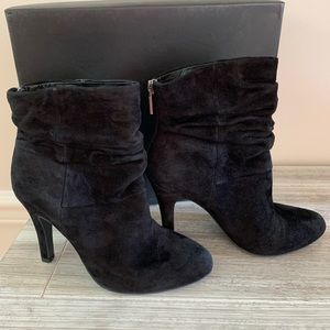 INC Ankle Boot in Black Suede